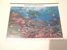 10 stamp 37 cents Pacific Coral Reef sheet Make Me an Offer