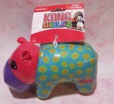 KONG SHIELDZ HIPPO MEDIUM SQUEAKY DOG TOY NEW