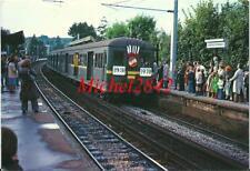 CPM Louveciennes arrivée du dernier train 1978 SNCF Chemin de fer RATP