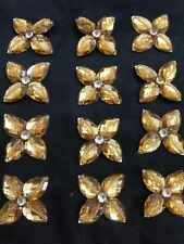 Gold Rhinestone Applique,Motif,edging,trim,sequins,beads  1 X ( 4cm Approx)