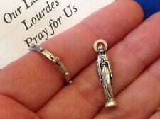 Rare Our Lady of Lourdes Icon and Rosary Ring Pocket Folder Statue Saint Healing