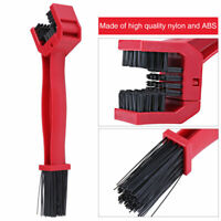 Motorcycle Bike Bicycle Chain Wheel Cleaning Brush Wash Cleaner Tool Red AP