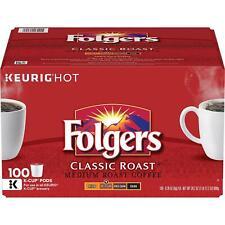 Folgers Classic Roast Coffee K-Cups (100 ct.)***NEW***