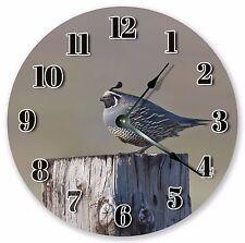 "10.5"" CALIFORNIA QUAIL CLOCK - Large 10.5"" Wall Clock - Home Décor Clock -  3023"
