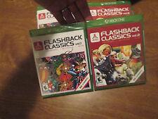 Atari Flashback Classics Vol. 1 & Vol. 2 XBOX ONE LOT 2 GAMES BRAND NEW SEALED