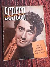 SCREEN TECHNIQUE- CANADIAN FILM MAGAZINE -1947- VALERIE HOBSON -JEAN SIMMONS