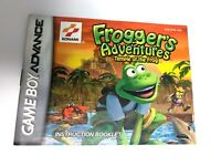 Frogger's Adventures Temple of the Frog Manual Nintendo Gameboy Advance GBA
