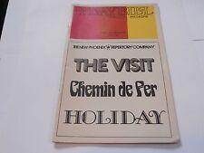 Playbill Program The Visit Chemin de fer Holiday Barrymore Theatre 3 SHOW NIGHT