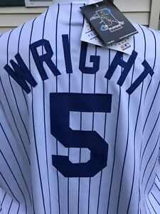 NEW YORK METS David Wright MAJESTIC MLB GENUINE Jersey 2XL New Free Shipping
