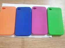 IPHONE 4 4S Soft Gel Rubber Silicone Case /  Cover BUY 1 GET 3 FREE + FREECABLE