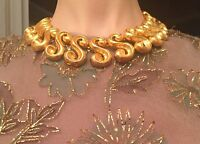 Very Rare Vintage Kenneth Jay Lane Gold Tone Necklace