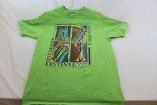 Large women's green shirt Newport Jazz Festival 1991 one small hole shown