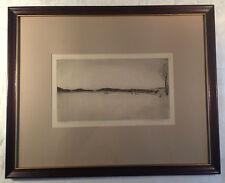 Blockprint Original Signed in Pencil & Titled - Vintage