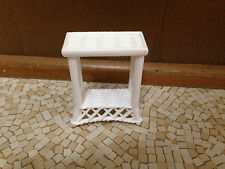 1998 Barbie Doll Dream House Townhouse Wicker Living Room Side Table Furniture