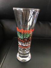 Budweiser Clydesdale Pilser Beer Glass 1989 Christmas Scene