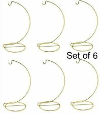 Ornament Display Stand Hanger Holder - 8 Inch Tall Gold ~Pack of 6 Stands