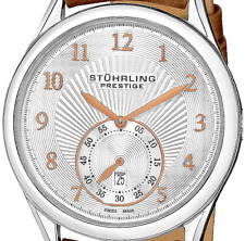 SWISS Made Automatic Men's Watch - Stuhrling Prestige Levant Brown Calfskin