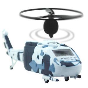 Joyart LED Display Alarmwecker Hubschrauber Wecker Tischuhr Tarnfarbe Propeller