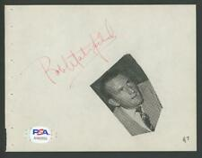 BOB WATERFIELD signed album page (RAMS - Autograph) PSA/DNA certified HOF!