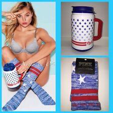 Victorias Secret PINK Chug Mug & Knee High Socks Stars Stripes 4th July NWT