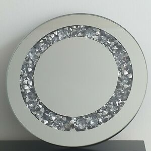 20 cm Crushed Filling jewel table top  Round candle plate Wedding table decor
