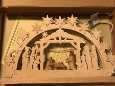 Ratags Holzdesign Doppelschwibbogen Wooden Lighted Nativity Made in Germany