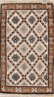 Summer Deal Geometric Tribal Ivory Moroccan Oriental Area Rug Wool Carpet 3x5ft