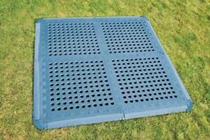 Outdoor Revolution Versa-Tile Link Together Flooring  Tiles  - 4 Pack - BLUE