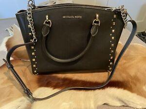 Leather Top-Zip Tote Bag