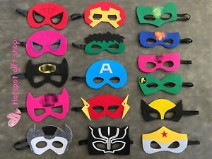Superhero Masks,Super hero Costume,Superhero Birthday Party Supplies Favors