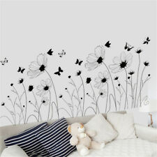 Black Flower Butterfly Room Home Decor Removable Wall Sticker Decal Decoration