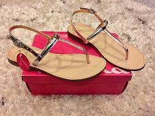 5 Nina Kids Pippa Thong Youth Sandal Strappy Open Toe Pink Silver Gold NIB $40