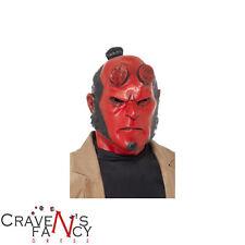 Adulto Máscara de Cabeza Completa Hellboy oficial Smiffys Halloween Horror Disfraz Látex