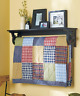 Quilt Rack Display Holder Wood Wall Mount Shelf Country Home Black Brown White