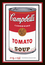 Iconic Andy Warhol Campbells Tomato Soup Can 11x14 matted 8x12 print Pop Art