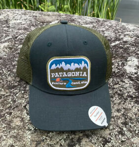 """RARE! NWT Patagonia FA16 """"Pointed West""""  GREEN trucker hat"""