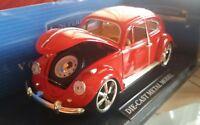Rarissimo Modellino Maggiolino Di Cast Metal Model 1.18 Wolkswagen Beetle Super