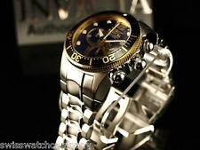 Invicta Mens Lupah Diver Swiss Ronda Chronograph Blue Dial Stainless Steel Watch