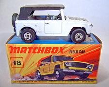 Matchbox Superfast Nr.18A Field Car in WEISS rare Farbe