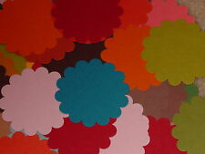 STAMPIN UP SCALLOP CIRCLE CARDSTOCK PUNCHIES VARIETY OF COLORS MIXED LOT *25*