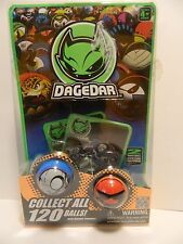 DaGeDar Balls & 2 cards with display stands, Redf & Black, Blue  *New in Pack*