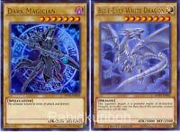 Yugioh Blue-Eyes White Dragon + Dark Magician - Ultra Rare Movie Pack 2 Card Set