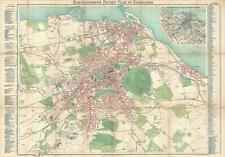 1900 Bartolomew Pocket Map of Edinburgh, Scotland