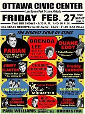 "Brenda Lee / Roy Orbison Ottawa 16"" x 12"" Photo Repro Concert Poster"