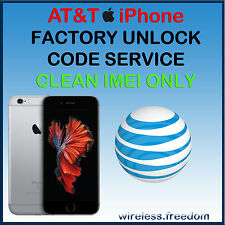 FACTORY UNLOCK CODE SERVICE AT&T IPHONE 6S 6 SE 5S 5C 5 4S 4 ATT FAST
