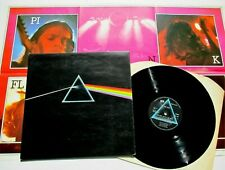 Pink Floyd - Dark Side Of The Moon UK 1970s Harvest LP with 1 Poster