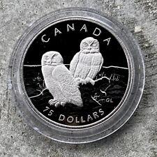 1991 Canada Platinum 1/4 oz .9999 Fine $75 Royal Canada Mint - Snowy Owl