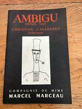 More details for ambigu 1959 programme ! marcel marceau ( signed copy )