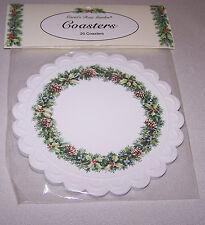 CAROL'S ROSE GARDEN, Pine Cone Wreath Coasters, BY CAROL WILSON, NEW