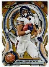 Jeremy Langford Chicago Bears RC Die-Cut Gold Refractor Insert #'d Non-Auto